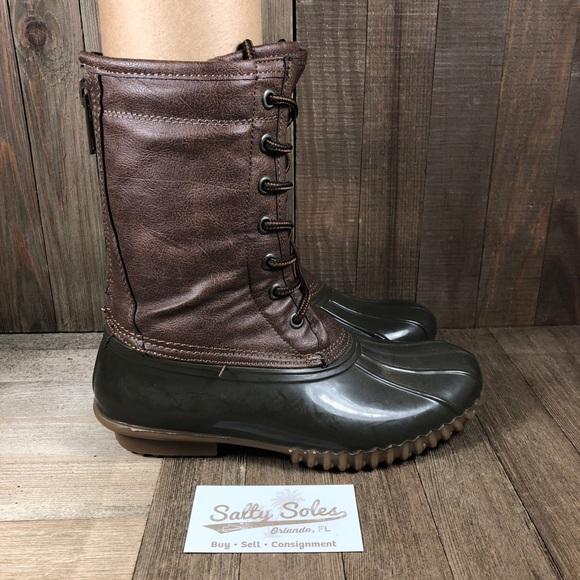 Flurryy Rubber Duck Boots Womens 6